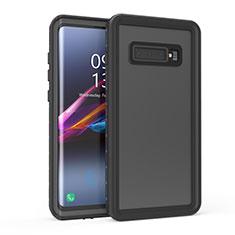 Coque Etanche Contour Silicone et Plastique Housse Etui Waterproof 360 Degres pour Samsung Galaxy S10 5G Noir