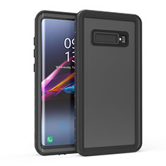 Coque Etanche Contour Silicone et Plastique Housse Etui Waterproof 360 Degres pour Samsung Galaxy S10 Noir