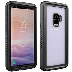 Coque Etanche Contour Silicone et Plastique Housse Etui Waterproof 360 Degres pour Samsung Galaxy S9 Noir