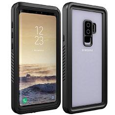 Coque Etanche Contour Silicone et Plastique Housse Etui Waterproof 360 Degres pour Samsung Galaxy S9 Plus Noir