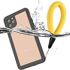 Coque Etanche Contour Silicone et Plastique Housse Etui Waterproof 360 Degres U01 pour Apple iPhone 11 Pro Max Noir