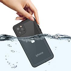 Coque Etanche Contour Silicone et Plastique Housse Etui Waterproof 360 Degres W01 pour Apple iPhone 11 Pro Max Noir