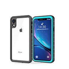 Coque Etanche Contour Silicone et Plastique Housse Etui Waterproof 360 Degres W01 pour Apple iPhone XR Cyan