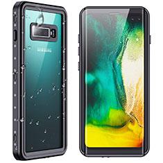 Coque Etanche Contour Silicone et Plastique Housse Etui Waterproof 360 Degres W01 pour Samsung Galaxy S10 Plus Noir