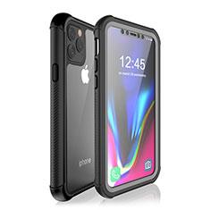 Coque Etanche Contour Silicone et Plastique Housse Etui Waterproof 360 Degres W02 pour Apple iPhone 11 Pro Noir