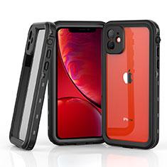 Coque Etanche Contour Silicone et Plastique Housse Etui Waterproof 360 Degres W03 pour Apple iPhone 11 Gris