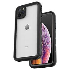Coque Etanche Contour Silicone et Plastique Housse Etui Waterproof 360 Degres W04 pour Apple iPhone 11 Pro Max Noir