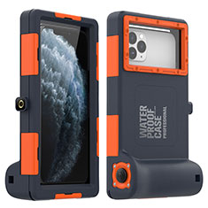 Coque Etanche Contour Silicone Housse et Plastique Etui Waterproof 360 Degres pour Samsung Galaxy S6 SM-G920 Orange
