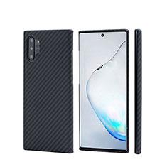 Coque Fibre de Carbone Housse Etui Luxe Serge C01 pour Samsung Galaxy Note 10 Plus 5G Noir