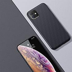 Coque Fibre de Carbone Housse Etui Luxe Serge pour Apple iPhone 11 Noir