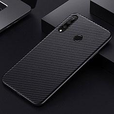 Coque Fibre de Carbone Housse Etui Luxe Serge T01 pour Huawei Honor 20 Lite Noir