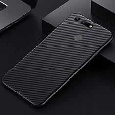 Coque Fibre de Carbone Housse Etui Luxe Serge T01 pour Huawei Honor View 20 Noir