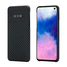 Coque Fibre de Carbone Housse Etui Luxe Serge T01 pour Samsung Galaxy S10e Noir