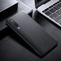 Coque Fibre de Carbone Housse Etui Luxe Serge T02 pour Huawei P30 Noir