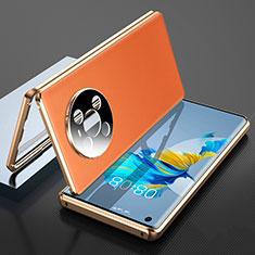 Coque Luxe Aluminum Metal Housse Etui 360 Degres K01 pour Huawei Mate 40 Orange