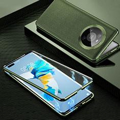 Coque Luxe Aluminum Metal Housse Etui 360 Degres K01 pour Huawei Mate 40 Pro Orange