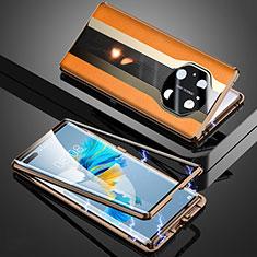 Coque Luxe Aluminum Metal Housse Etui 360 Degres K03 pour Huawei Mate 40 Pro Orange