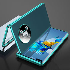 Coque Luxe Aluminum Metal Housse Etui 360 Degres K04 pour Huawei Mate 40 Pro Cyan