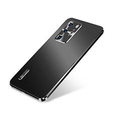 Coque Luxe Aluminum Metal Housse Etui A01 pour Huawei P40 Pro Noir