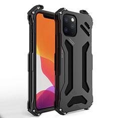 Coque Luxe Aluminum Metal Housse Etui M01 pour Apple iPhone 11 Pro Max Noir