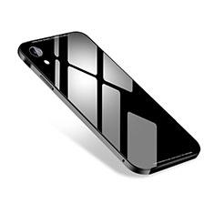 Coque Luxe Aluminum Metal Housse Etui M01 pour Apple iPhone XR Noir