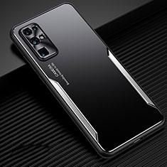 Coque Luxe Aluminum Metal Housse Etui M01 pour Huawei Honor 30 Argent