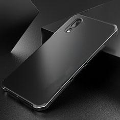 Coque Luxe Aluminum Metal Housse Etui M01 pour Huawei P20 Noir