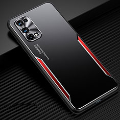 Coque Luxe Aluminum Metal Housse Etui M01 pour Realme Q2 Pro 5G Rouge