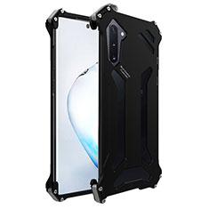 Coque Luxe Aluminum Metal Housse Etui M01 pour Samsung Galaxy Note 10 Noir