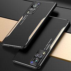 Coque Luxe Aluminum Metal Housse Etui M01 pour Vivo X60 5G Or