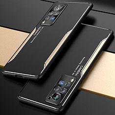 Coque Luxe Aluminum Metal Housse Etui M01 pour Vivo X60 Pro 5G Or