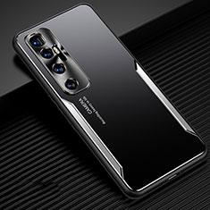 Coque Luxe Aluminum Metal Housse Etui M01 pour Xiaomi Mi 10 Ultra Argent