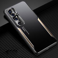 Coque Luxe Aluminum Metal Housse Etui M01 pour Xiaomi Mi 10 Ultra Or
