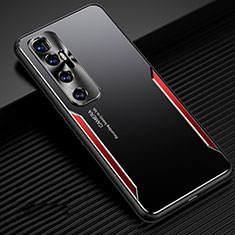 Coque Luxe Aluminum Metal Housse Etui M01 pour Xiaomi Mi 10 Ultra Rouge