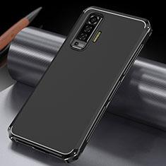 Coque Luxe Aluminum Metal Housse Etui M03 pour Vivo X50 5G Noir