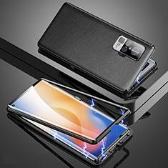 Coque Luxe Aluminum Metal Housse Etui M04 pour Vivo X50 Pro 5G Noir