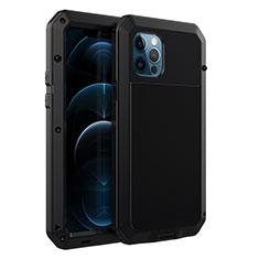 Coque Luxe Aluminum Metal Housse Etui N01 pour Apple iPhone 12 Pro Max Noir
