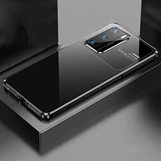 Coque Luxe Aluminum Metal Housse Etui N01 pour Huawei P40 Noir
