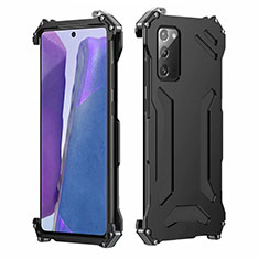 Coque Luxe Aluminum Metal Housse Etui N02 pour Samsung Galaxy Note 20 5G Noir