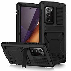 Coque Luxe Aluminum Metal Housse Etui N03 pour Samsung Galaxy Note 20 Ultra 5G Noir