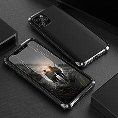 Coque Luxe Aluminum Metal Housse Etui pour Apple iPhone 11 Pro Max Noir
