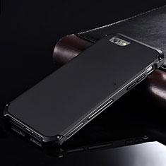 Coque Luxe Aluminum Metal Housse Etui pour Apple iPhone 6S Noir