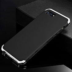 Coque Luxe Aluminum Metal Housse Etui pour Apple iPhone 8 Plus Argent et Noir