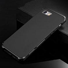 Coque Luxe Aluminum Metal Housse Etui pour Apple iPhone SE (2020) Noir