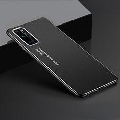 Coque Luxe Aluminum Metal Housse Etui pour Huawei Honor 30 Pro Noir