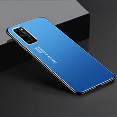 Coque Luxe Aluminum Metal Housse Etui pour Huawei Honor 30 Pro+ Plus Bleu