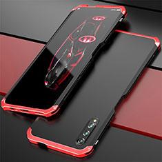 Coque Luxe Aluminum Metal Housse Etui pour Huawei Honor 9X Pro Rouge et Noir