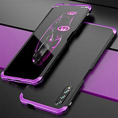 Coque Luxe Aluminum Metal Housse Etui pour Huawei Honor 9X Pro Violet