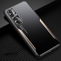 Coque Luxe Aluminum Metal Housse Etui pour Huawei Nova 7 Pro 5G Or
