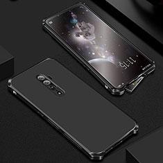 Coque Luxe Aluminum Metal Housse Etui pour Oppo Reno 10X Zoom Noir